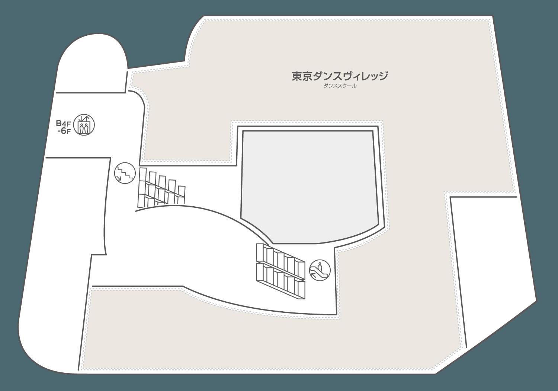 WACCA池袋 2階のフロアマップ