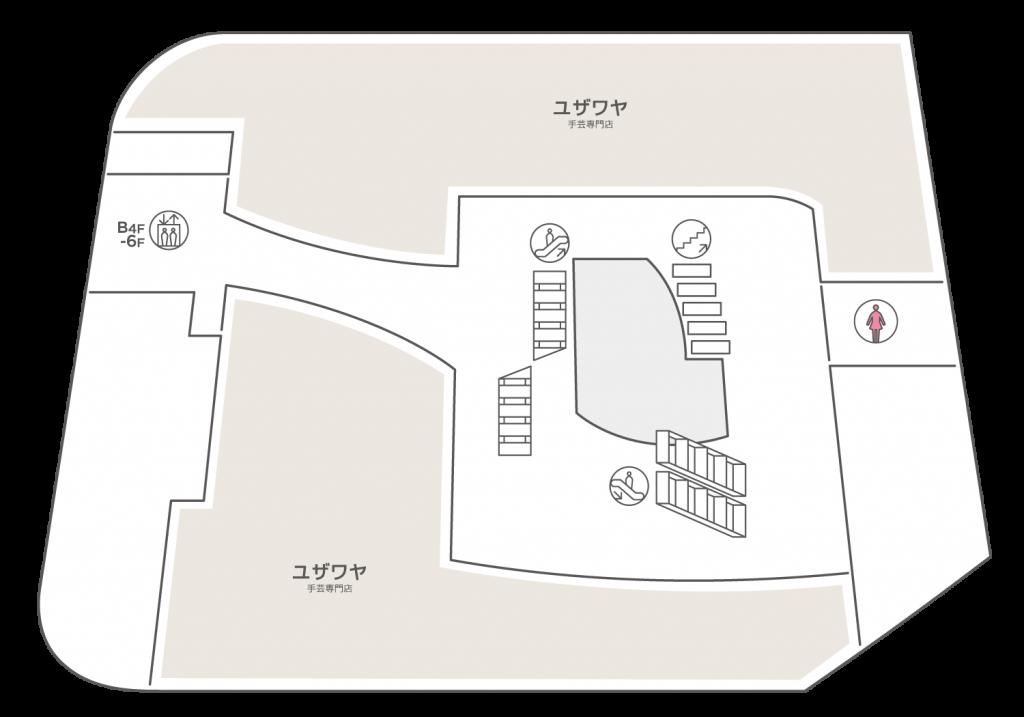 WACCA池袋 3階のフロアマップ