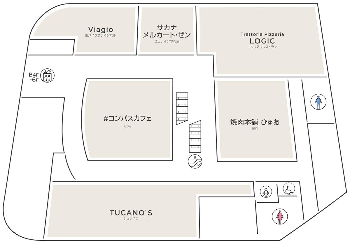 WACCA池袋 5階のフロアマップ